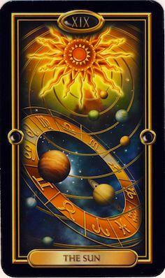 Tarot card -The sun by Ciro Marchetti