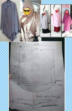 Abaya Designs, Blouse Designs, Dress Sewing Patterns, Clothing Patterns, Sewing Clothes, Diy Clothes, Abaya Pattern, Smocking Tutorial, Arab Girls Hijab