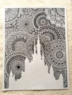 drawing for my favorite lock! All in zentangle mandala ! Size: 65 cm x 50 cm - Art Doodle Art Drawing, Zentangle Drawings, Mandala Drawing, Pencil Art Drawings, Art Drawings Sketches, Zentangles, Drawing Ideas, Mandala Art Lesson, Mandala Design