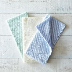 Seersucker Cloth Napkins (Set of 4) on Provisions by Food52 I think I could make these. Just buy the material and hem four squares