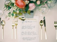 Menus, placecards, and more for a beautiful wedding at Belle Mer in Newport, RI.