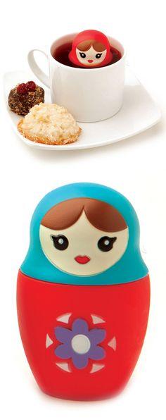 Babushka Tea Infuser // cute! #product_design