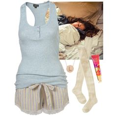 Staying in bed all day by baeisme on Polyvore featuring moda, Wigwam and Jennifer Meyer Jewelry