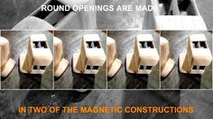 STEP BY STEP THE CONSTRUCTION OF 5 INTERACTIONS  MAGNETIC CONSTRUCTIONS