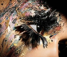 Fairy Makeup on Dark Fairy Eye Makeup Beauty And Make Up Pictures Mac Eyelashes, Feather Eyelashes, Fake Lashes, Huda Beauty Makeup, Mac Makeup, Fairy Eye Makeup, Fantasy Makeup, Crazy Hair, Crazy Eyes