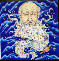 #kirbyrosanes #mythomorphia #adultcoloringbook #adultcoloring #grownupcoloring #coloring #coloringbook #prismacolors #polychromos #wizards #galaxy #tattoo