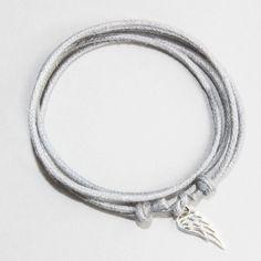 bracelet gris aile