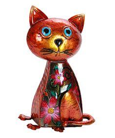 Loving this Solar-Powered Glass Cat Figurine on #zulily! #zulilyfinds
