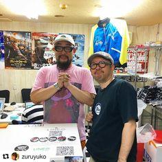 ずるさん参助先生ご来店ありがとうございます(檄涙 Repost @zuruyuko  大阪コアチョコに寄ってみちさんに会えましたわたくしはロボット8ちゃんTシャツ購入開店おめでとうございます