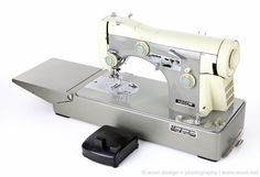 NECCHI SUPERNOVA AUTOMATICA ULTRA MARK II Industrial Sewing Machine w Case ITALY #NECCHI