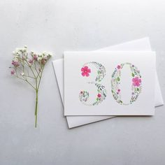 Discover thoughtful birthday cards for everyone you love, all handmade or sourced by the UK's best small creative businesses. Watercolor Birthday Cards, Birthday Card Drawing, Birthday Painting, Watercolor Cards, Calligraphy Birthday Card, Watercolour, Flower Birthday Cards, Birthday Cards For Her, Flower Cards