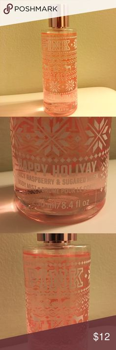 LIMITED EDITION Pink Body Mist One of the 3(I believe) holiday scents that Pink had for the holidays. I used it once and the scent is not for me. It's sweeter than I like I'm more into flowery. Practically brand new! PINK Victoria's Secret Makeup