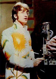 Beatle John Lennon circa 1967 (I love his jacket!)