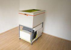 Compact bedroom hidden in a box