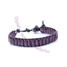 One Row Wrap Bracelet - Purple Passion