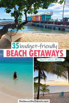 Looking for a budget-friendly vacation? This list of 35 amazing beaches will blow your mind! From undiscovered islands to the most popular getaways for cheap, you'll want to dip your toes in the sand on these beaches! | Beach Vacations USA | Caribbean Beaches Travel Guides, Travel Tips, Cheap Beach Vacations, Destin Beach, Travel Aesthetic, Beach Fun, Usa Travel, Travel Essentials, Budget Travel