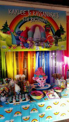 Trolls candy table