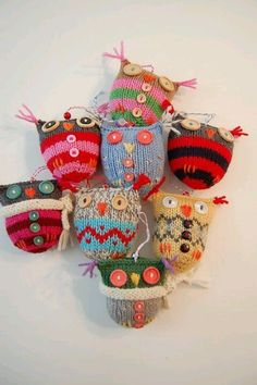 Owls- you could use socks,,,