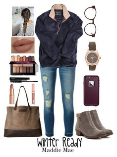 """Winter Ready"" by maddiemae30 ❤ liked on Polyvore featuring Lucky Brand, MICHAEL Michael Kors, True Grit, LifeProof, Dolce Vita, SOREL, MAC Cosmetics, 3.1 Phillip Lim and Nixon"