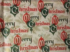 1950's Vintage Christmas Gift Wrap Two Full Sheets | eBay