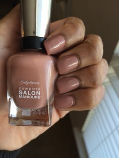 Nude Nail Polish for Dark Skin Women.