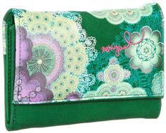 Desigual MONE_PEQUE.ROSCON, Portafoglio donna, Verde (Grün (verde nantes 4043)), 4x10x13 cm (B x H x T) Continental Wallet, Bags, Coin Purses, Purses, Nantes, Handbags, Bag, Totes, Hand Bags