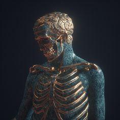† Santa Muerte † on Behance Dark Fantasy, Fantasy Art, Black Press, Or Noir, Arte Obscura, Skull And Bones, Memento Mori, Skull Art, Aesthetic Art