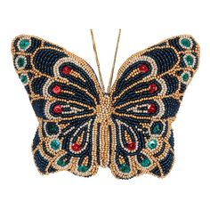 """DIY beads embroidery kit ''Butterfly"""". #vdvkiev embroiderykit #beads #sequins #beadingkit #Preciosa #printonfabric #softtoy #toy"""
