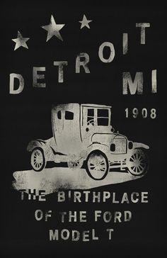 Detroit, Michigan Art Print by Joey Carty Michigan Travel, State Of Michigan, Northern Michigan, Detroit Michigan, Detroit Rock City, Detroit Area, Detroit Vs Everybody, Detroit Motors, Detroit History