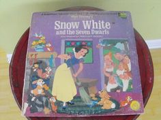 Vintage 33 RPM Vinyl Record Snow White and the 7 by peacenluv72, $9.50