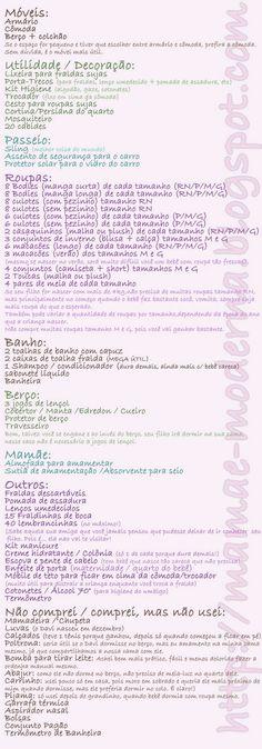 Faz tempo que gostaria de fazer um post para falar sobre lista de enxoval de bebê.   Quando estava grávida eu fiz a minha lista assim: copi...