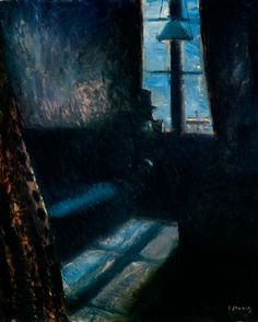 Night in St. Cloud. 1890. by  Edvard Munch.  Oil on canvas