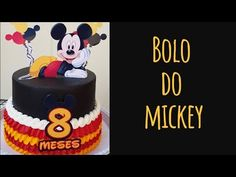 BOLO DO MICKEY | Chantininho preto sem amargar - YouTube Bolo Youtube, Bolo Mickey, Birthday Cake, Desserts, Food, Chocolate Chips, Creative Cakes, Chinese Food, Whipped Cream