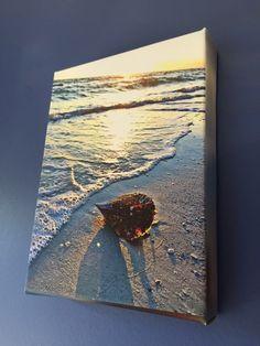 Florida Beach Sunset Stretched Canvas by BlueHydrangeaCanvas