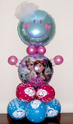 Frozen Balloon Buddy, for 3rd birthday party