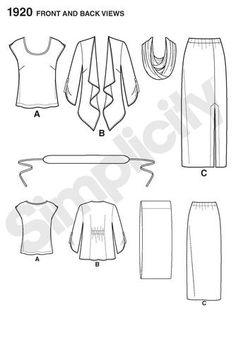 S1920 Misses' & Plus Size Smart & Casual Wear
