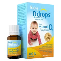 Ddrops 400 IU Baby Vitamin Supplement