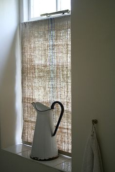 linen window dressing
