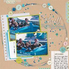 Scrapbook How to: Paint Circles and Splatters (Elizabeth Gardner: Scrapbooking Boys & Men, Creating Keepsakes)