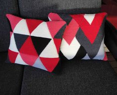 More graphic crocheted cushions by Australian crafter and blogger, Kylie Hunt