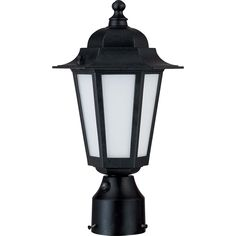 Nuvo Lighting Cornerstone 1 Light Textured With Satin White Glass Post Lantern