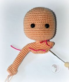 Crochet amigurumi one-piece doll. (Free pattern).