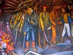 Detalle del Mural en el Palacio de Gobierno de Morelia, Michoacán