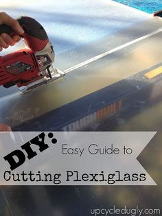 Aaron and Erin provide a tutorial on cutting plexiglass. The plexiglass will be used in their storm windows. Window Inserts, Diy Greenhouse, Tecno, Home Repairs, Diy Frame, Dremel, E Design, Booth Design, Interior Design