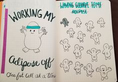 """Via Samantha Anne from Inappropriate Bullet Journal Inspiration Facebook group """"Any Doctor Who fans? My new spread to track losing 15 pounds."""""""