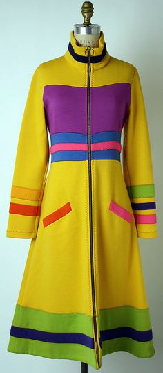 Stephen Burrows wool coat from the 70s. Something a little more colorful for ye olde pin board.