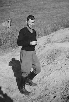 """A young Josef Mengele just before he became the """"Angel of Death""""."""