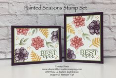 Painted Seasons Stamp Set–Sale-A-Bration Release Product - Kuchen Rezepte Einfach Birthday Decorations For Men, Beautiful Handmade Cards, Pretty Cards, Stamping Up, Flower Cards, Greeting Cards Handmade, Homemade Cards, Stampin Up Cards, Making Ideas