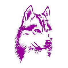 37 Ideas For Dogs Illustration Husky Silhouette Cameo 4, Animal Silhouette, Animal Drawings, Art Drawings, Husky Tattoo, Adobe Illustrator, Et Tattoo, Stencil Patterns, Dog Illustration