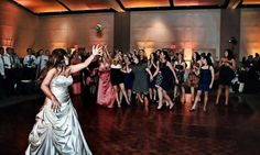 Oh the bouquet toss!  It never seizes to make my giggle! ;) Andrew & Lindsay Leech